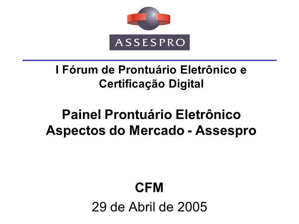 Agenda Apresentação Benefícios do Uso do PEP na Saúde Mercado de TI na Saúde Iniciativas de PEP no Mundo PEP no Brasil Certificação do PEP Conclusões
