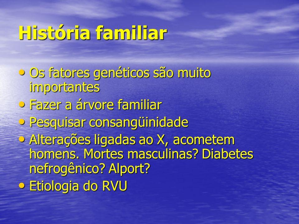 História familiar Os fatores genéticos são muito importantes Os fatores genéticos são muito importantes Fazer a árvore familiar Fazer a árvore familia