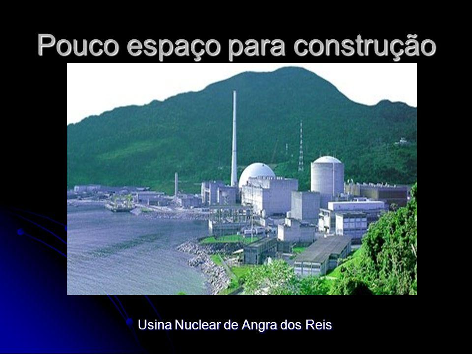 Pouco espaço para construção Usina Nuclear de Angra dos Reis Usina Nuclear de Angra dos Reis