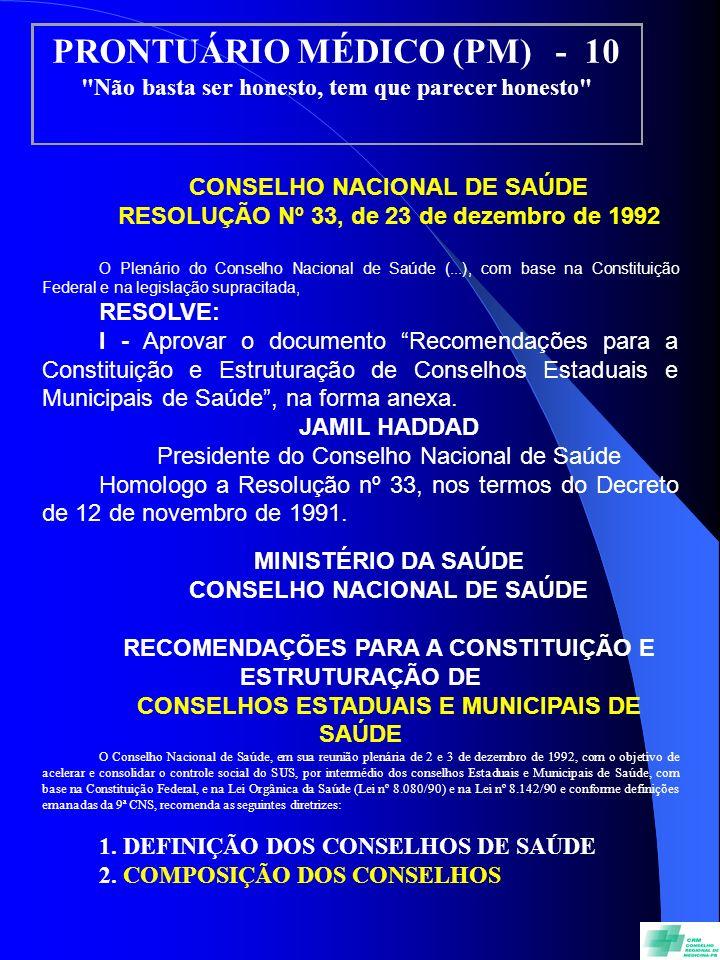 PRONTUÁRIO MÉDICO (PM) - 10