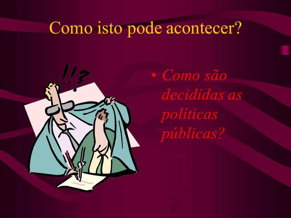 Como são decididas as políticas públicas?