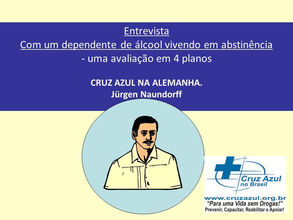 Der Weg in die Sucht Entrevista Com um dependente de álcool vivendo em abstinência - uma avaliação em 4 planos CRUZ AZUL NA ALEMANHA.