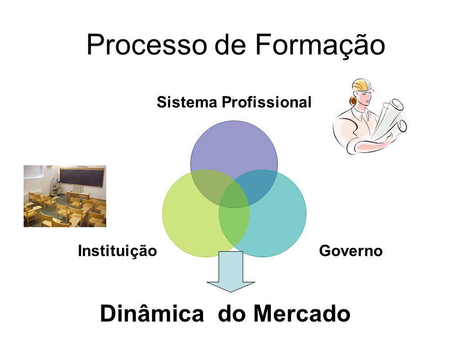 Processo de Formação Sistema Profissional GovernoInstituição Dinâmica do Mercado