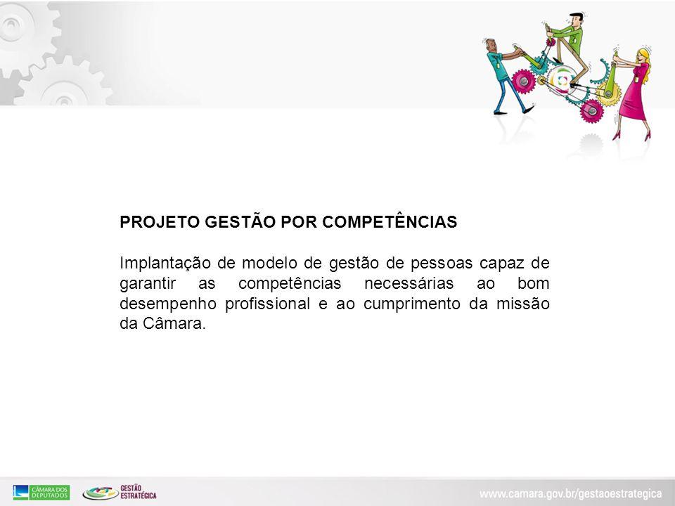 PROJETO GESTÃO POR COMPETÊNCIAS Implantação de modelo de gestão de pessoas capaz de garantir as competências necessárias ao bom desempenho profissiona