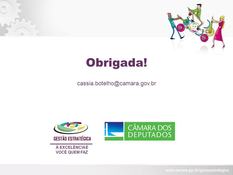 Obrigada! Â EXCELÊNCIA É VOCÊ QUEM FAZ cassia.botelho@camara.gov.br