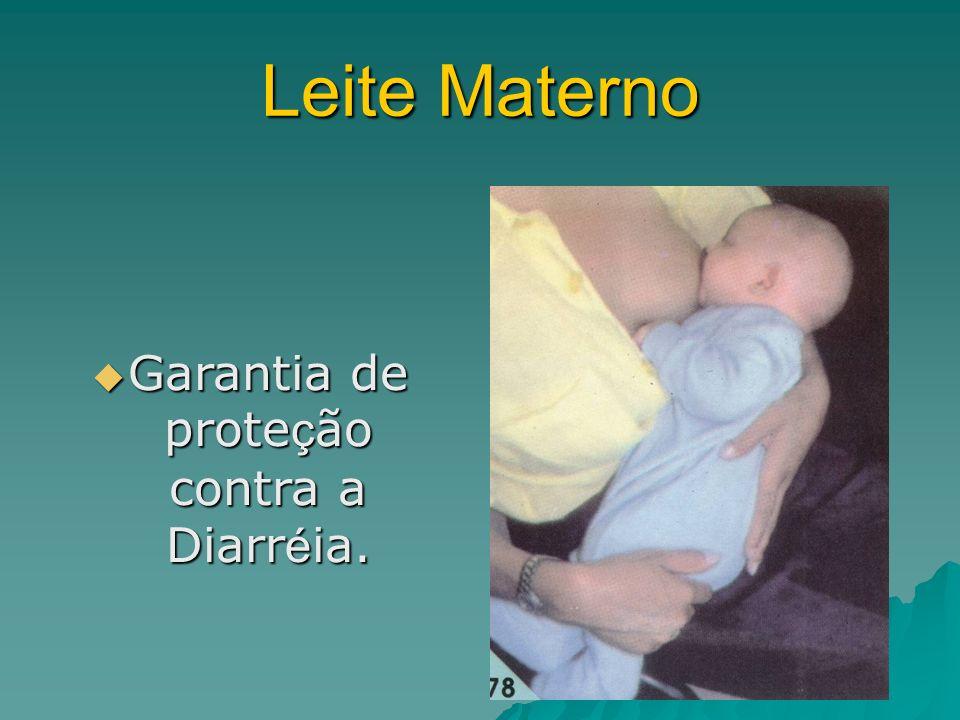 Leite Materno Garantia de prote ç ão contra a Diarr é ia.
