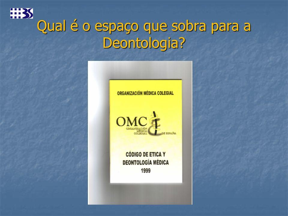 Qual é o espaço que sobra para a Deontologia?