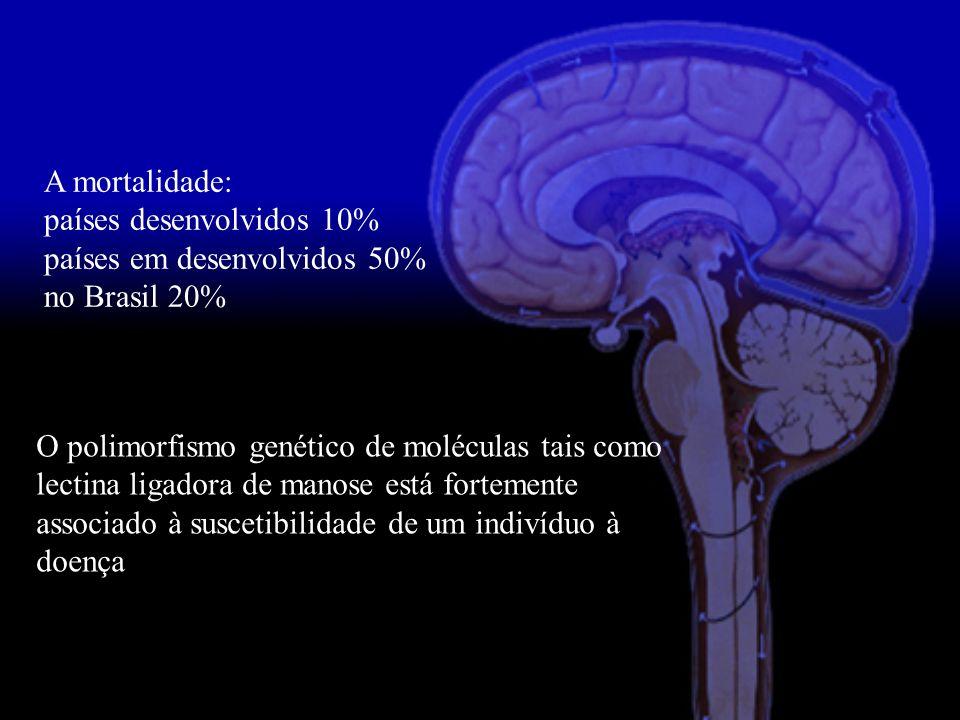 A mortalidade: países desenvolvidos 10% países em desenvolvidos 50% no Brasil 20% O polimorfismo genético de moléculas tais como lectina ligadora de m