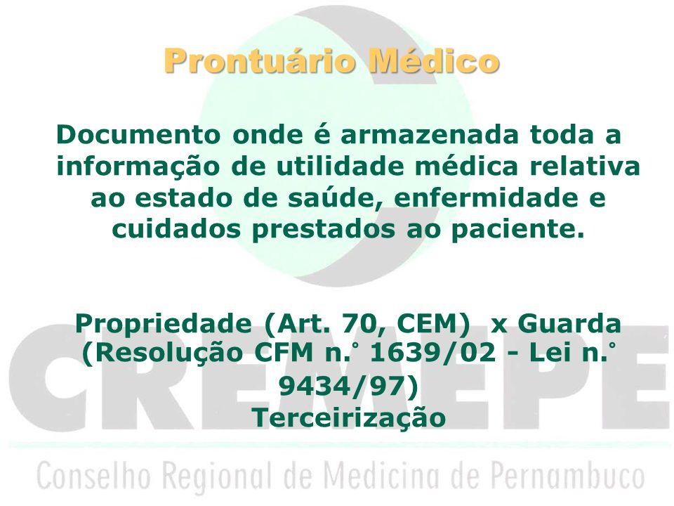 Prontuário Médico Art.