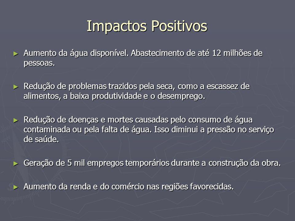 Impactos Negativos Introdução de tensões e riscos sociais durante as obras.