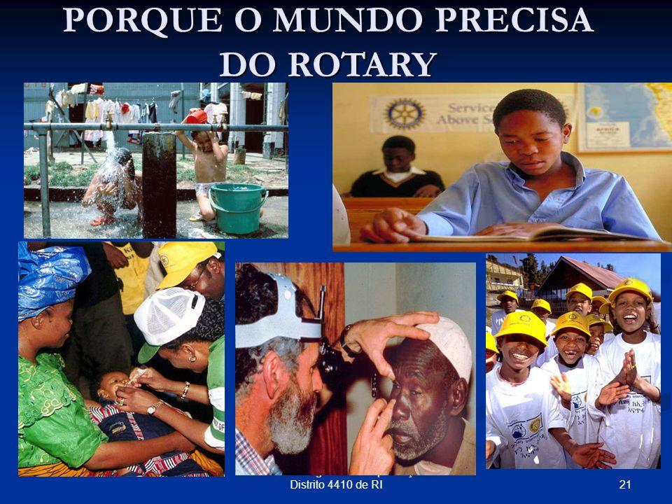 21 Seminário Regional de Capacitação Distrito 4410 de RI PORQUE O MUNDO PRECISA DO ROTARY