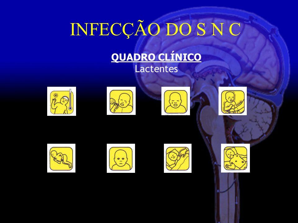 INFECÇÃO DO S N C QUADRO CLÍNICO Lactentes