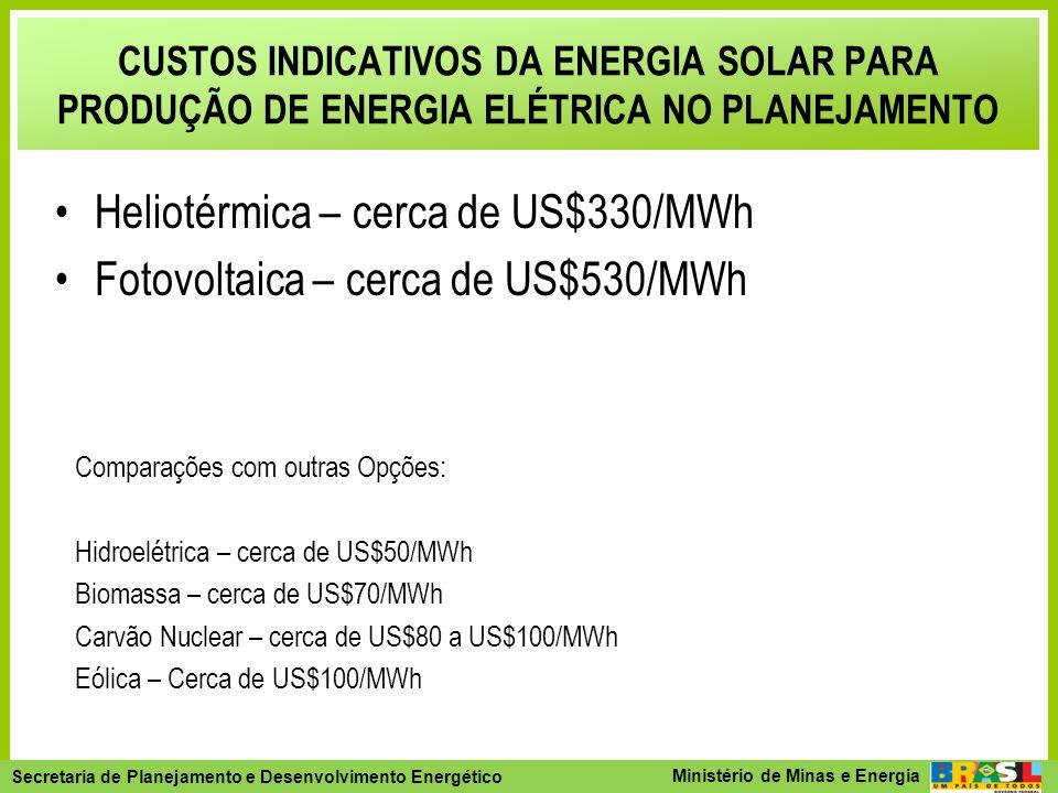 Secretaria de Planejamento e Desenvolvimento Energético - SPE Secretaria de Planejamento e Desenvolvimento Energético Ministério de Minas e Energia CU