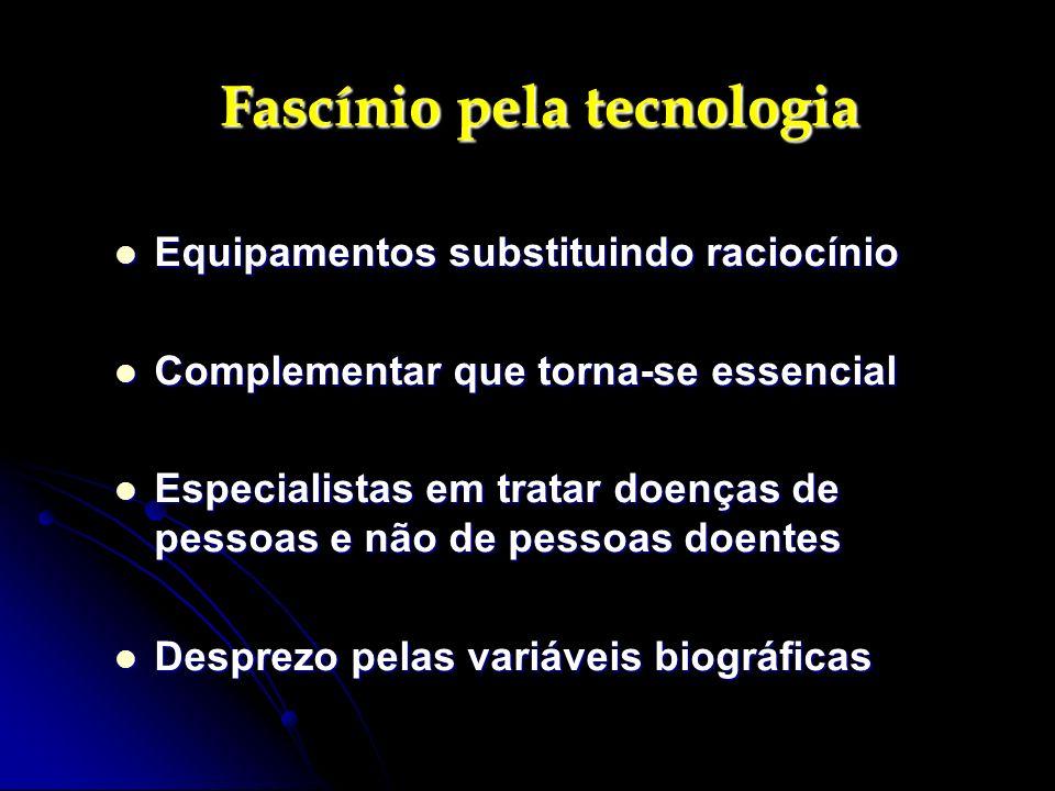 Fascínio pela tecnologia Fascínio pela tecnologia Equipamentos substituindo raciocínio Equipamentos substituindo raciocínio Complementar que torna-se