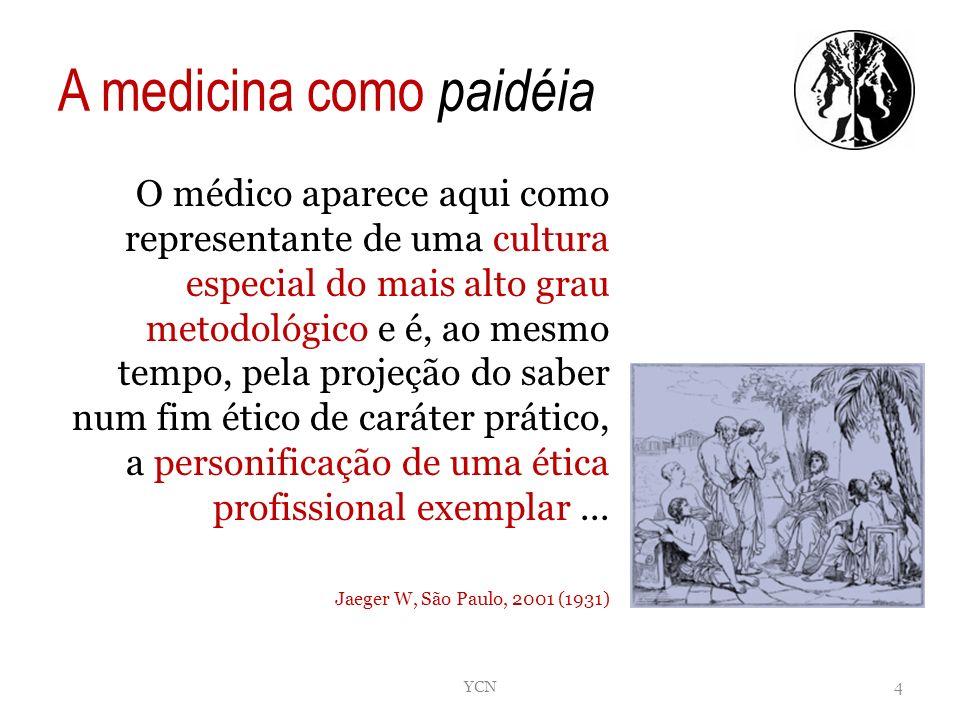 A medicina como paidéia O médico aparece aqui como representante de uma cultura especial do mais alto grau metodológico e é, ao mesmo tempo, pela proj