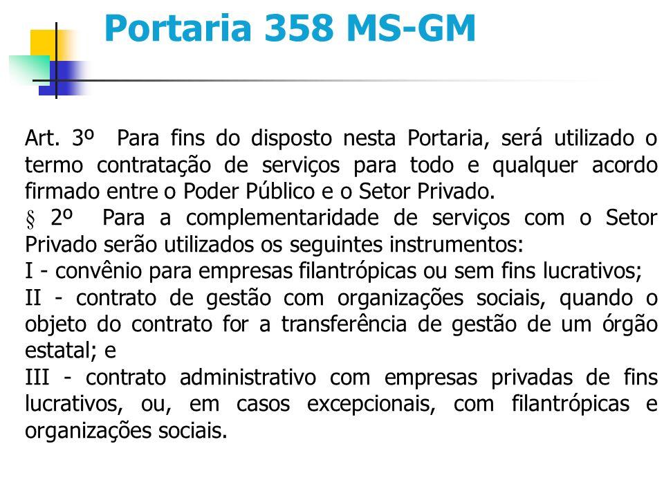 Portaria 358 MS-GM Art.