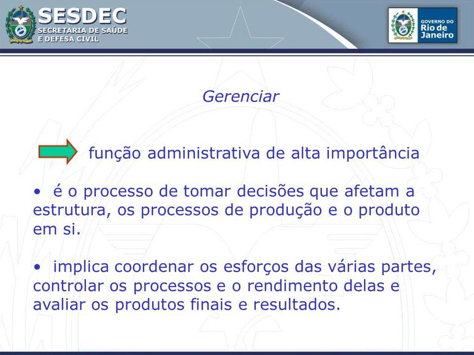 Gerenciar função administrativa de alta importância é o processo de tomar decisões que afetam a estrutura, os processos de produção e o produto em si.