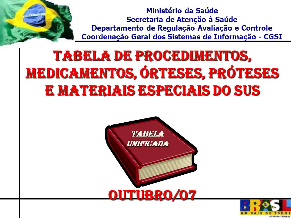PT GM/MS Nº 1.160 DE 07/07/2005; PT GM/MS Nº 1.160 DE 07/07/2005; Consulta Pública PT SAS/MS Nº 05 DE 04/10/2005; PT SAS/MS Nº 05 DE 04/10/2005; Grupo de Trabalho PT.
