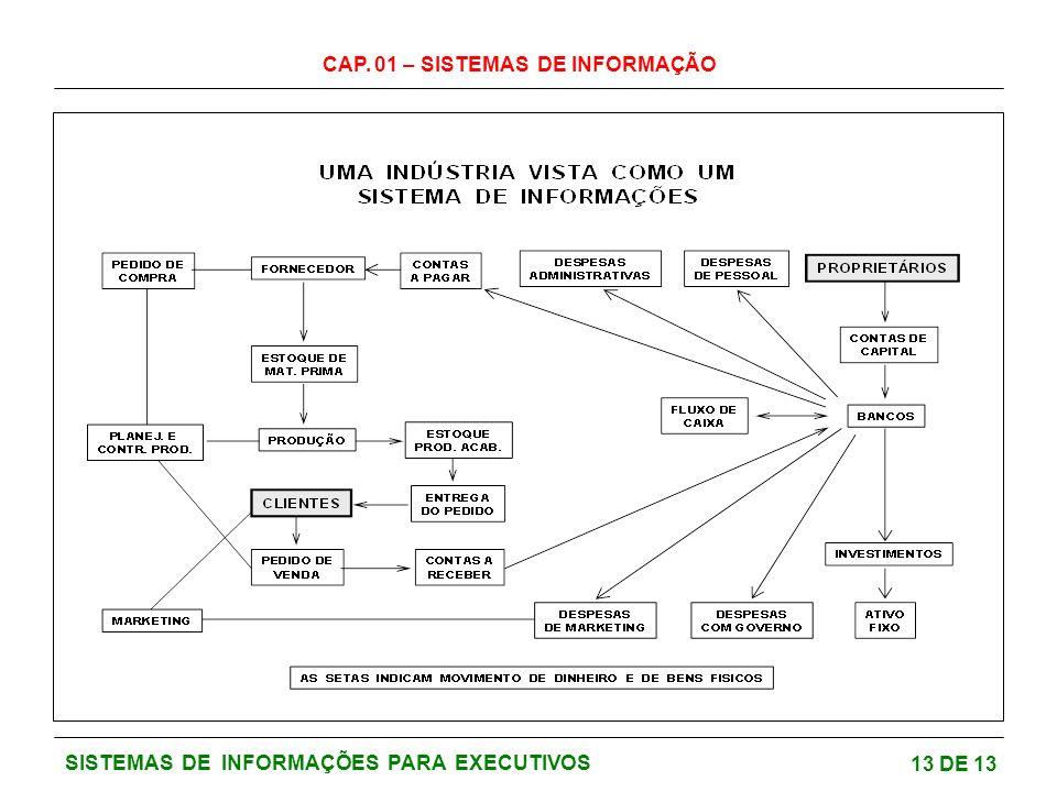 CAP. 01 – SISTEMAS DE INFORMAÇÃO 13 DE 13 SISTEMAS DE INFORMAÇÕES PARA EXECUTIVOS