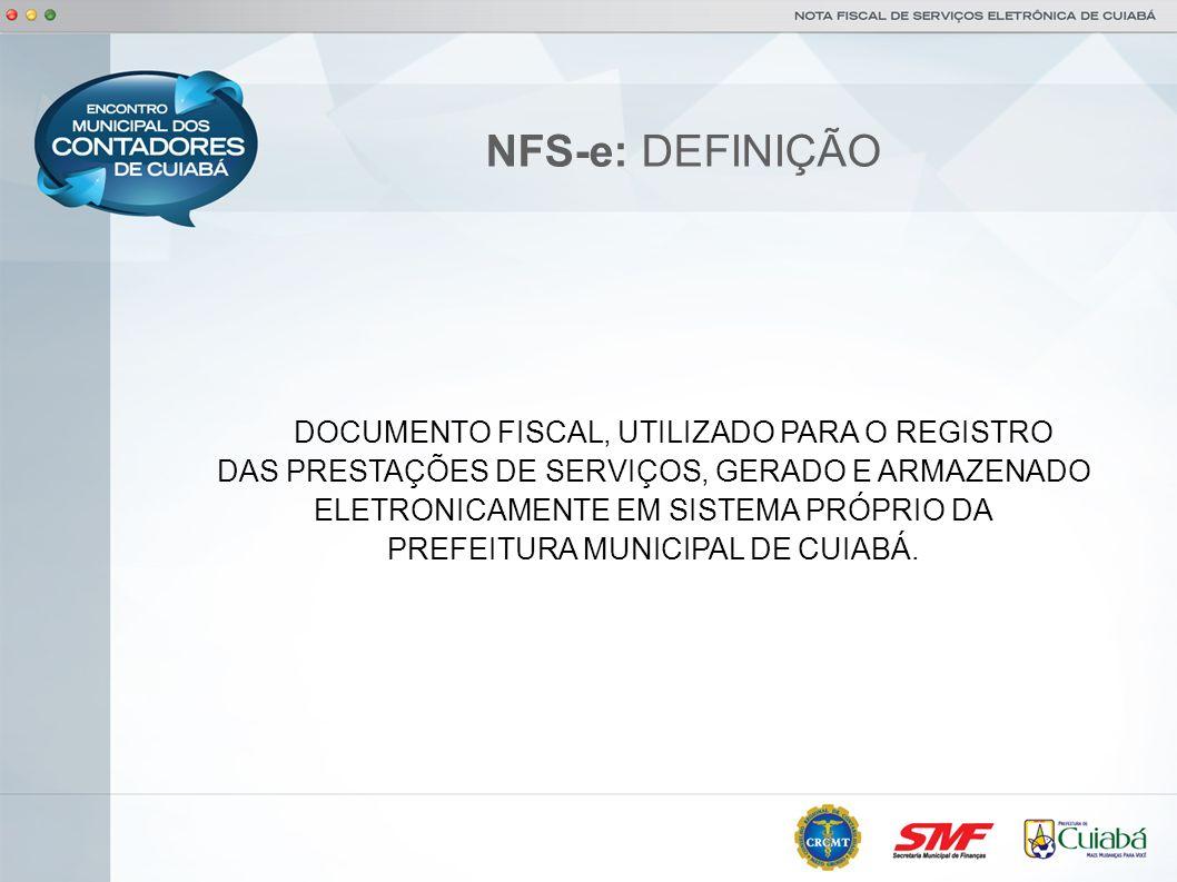 NFS-e: INSTITUIÇÃO AMBIENTE NACIONAL PROTOCOLO DE COOPERAÇÃO ENAT Nº 01/2006-III ENAT: OS MUNICÍPIOS, REPRESENTADOS PELA ABRASF SE COMPROMETEM A COORDENAR O DESENVOLVIMENTO E A IMPLANTAÇÃO DA NFS-e.