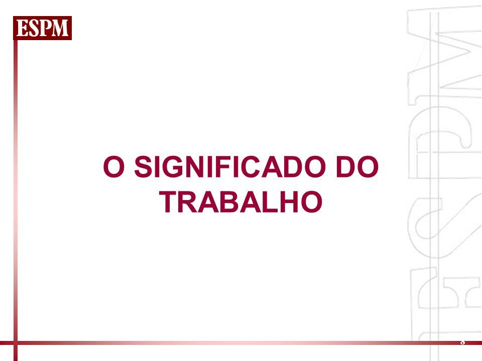 8 O SIGNIFICADO DO TRABALHO