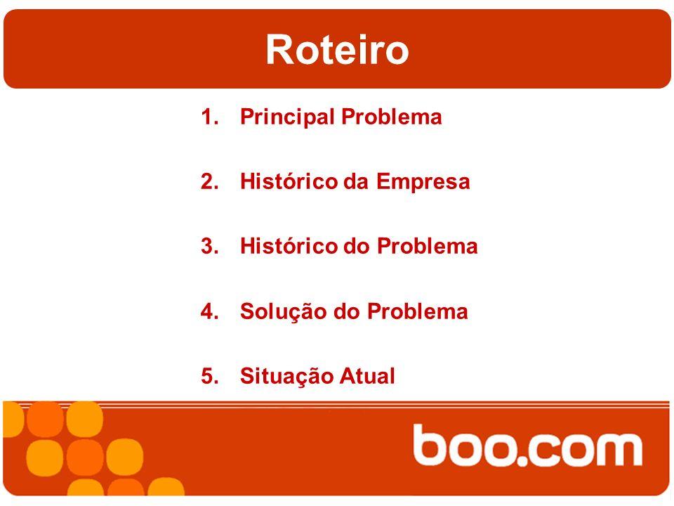 Roteiro 1.Principal Problema 2.Histórico da Empresa 3.Histórico do Problema 4.Solução do Problema 5.Situação Atual