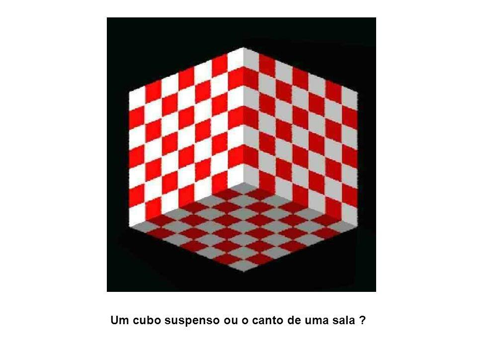 Um cubo suspenso ou o canto de uma sala ?