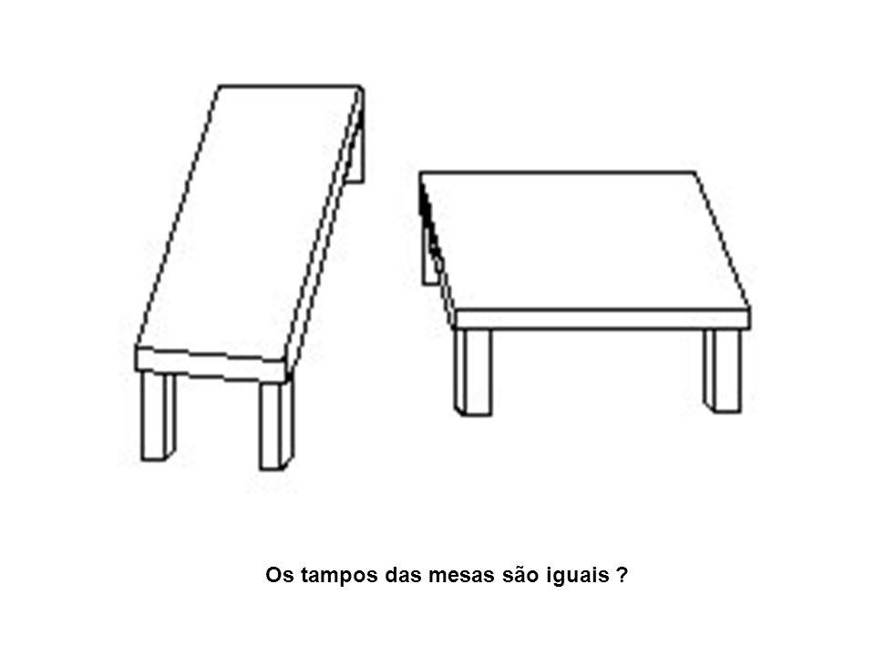 Os tampos das mesas são iguais ?