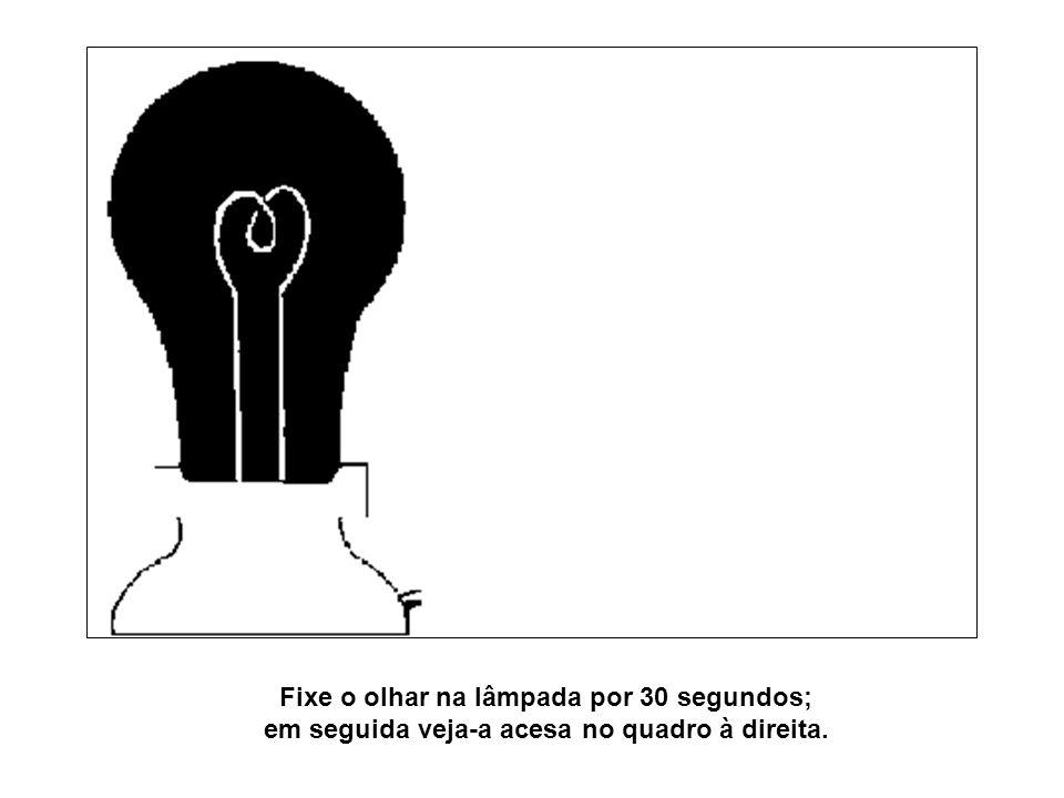 Fixe o olhar na lâmpada por 30 segundos; em seguida veja-a acesa no quadro à direita.