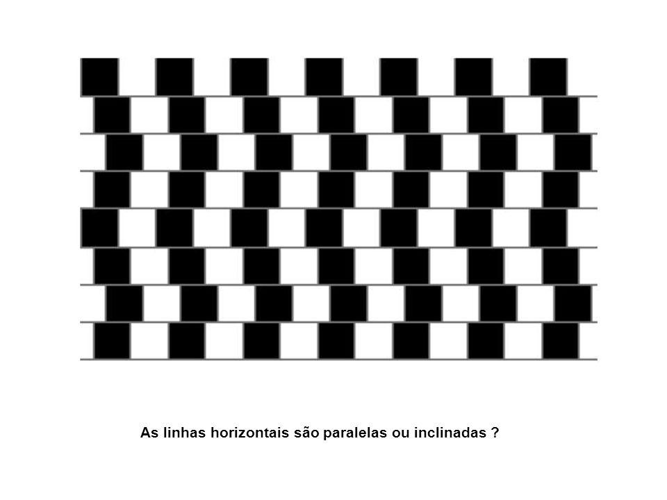 As linhas horizontais são paralelas ou inclinadas ?