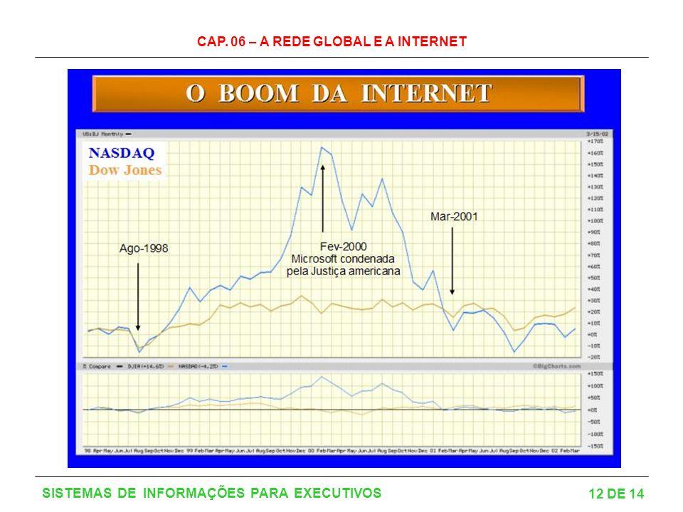 CAP. 06 – A REDE GLOBAL E A INTERNET 12 DE 14 SISTEMAS DE INFORMAÇÕES PARA EXECUTIVOS