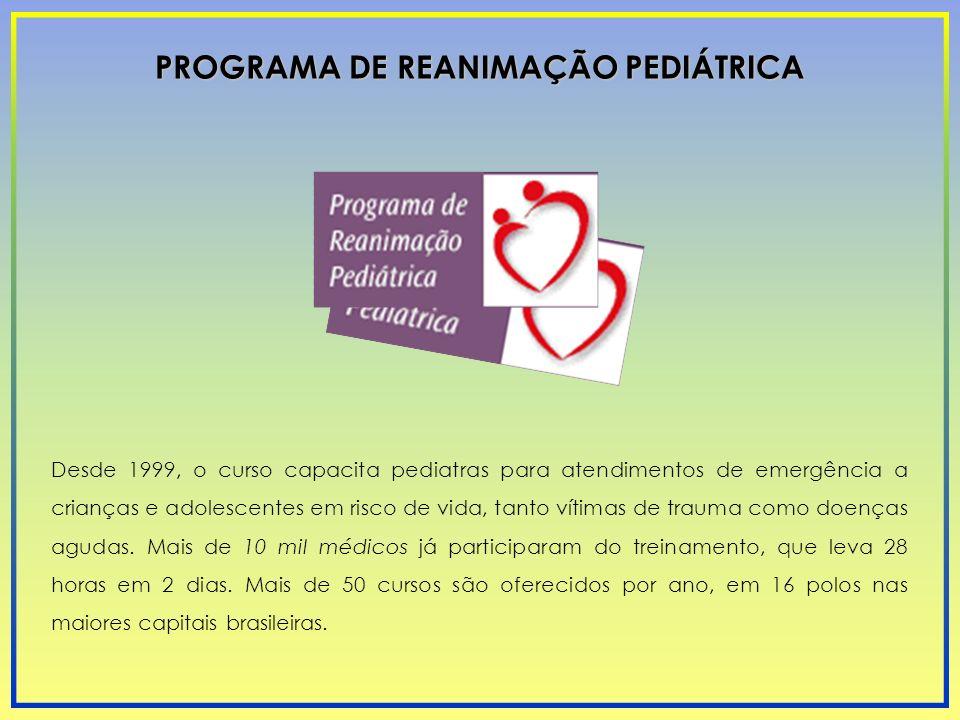 Desde 1999, o curso capacita pediatras para atendimentos de emergência a crianças e adolescentes em risco de vida, tanto vítimas de trauma como doença