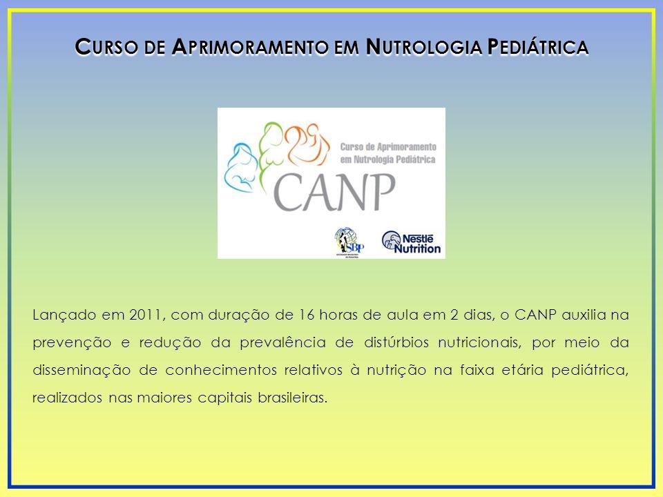 Lançado em 2011, com duração de 16 horas de aula em 2 dias, o CANP auxilia na prevenção e redução da prevalência de distúrbios nutricionais, por meio