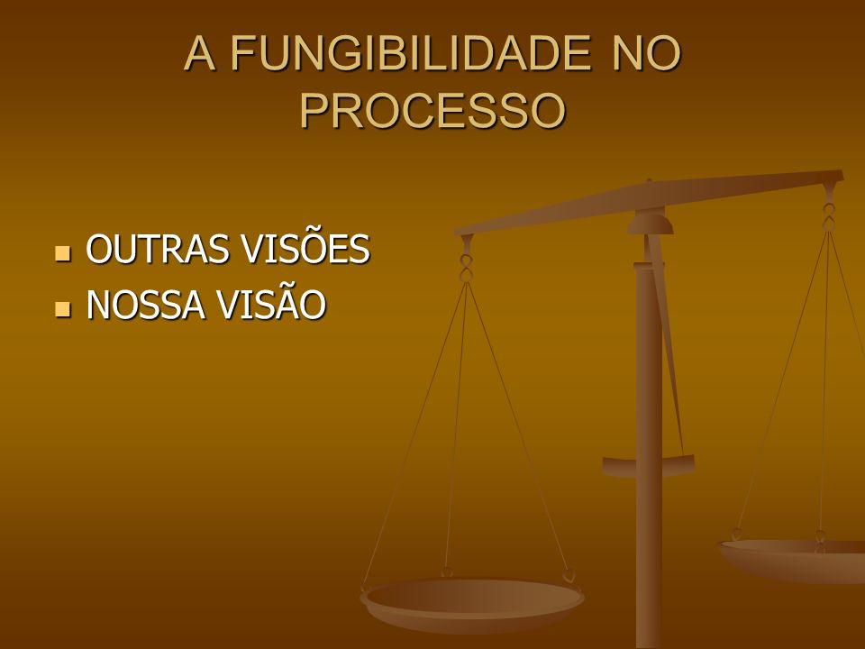 A FUNGIBILIDADE NO PROCESSO OUTRAS VISÕES OUTRAS VISÕES NOSSA VISÃO NOSSA VISÃO