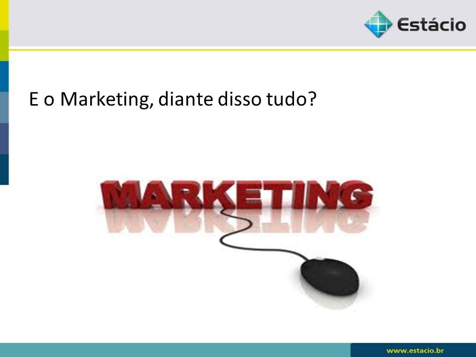 E o Marketing, diante disso tudo?
