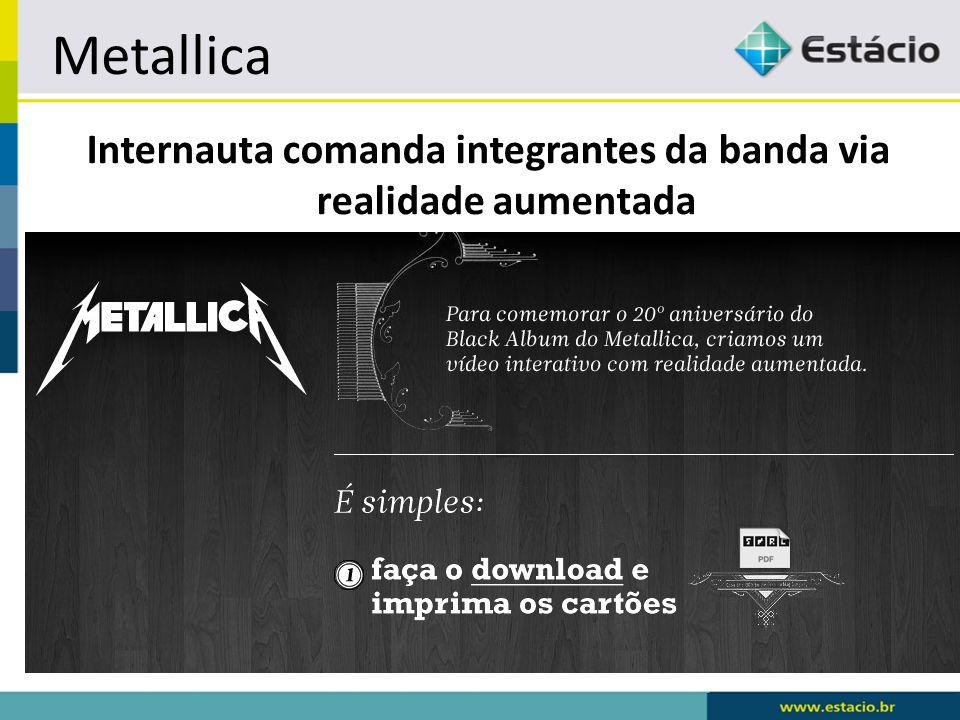 Metallica Internauta comanda integrantes da banda via realidade aumentada