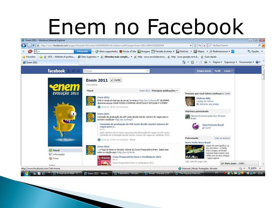 Enem no Facebook