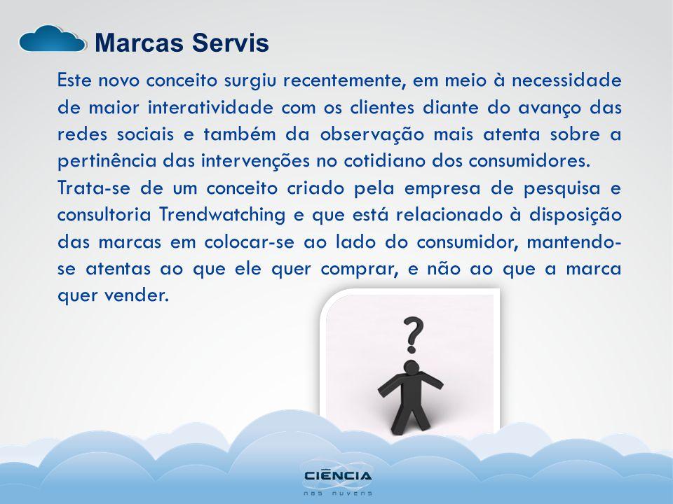 Marcas Servis Este novo conceito surgiu recentemente, em meio à necessidade de maior interatividade com os clientes diante do avanço das redes sociais