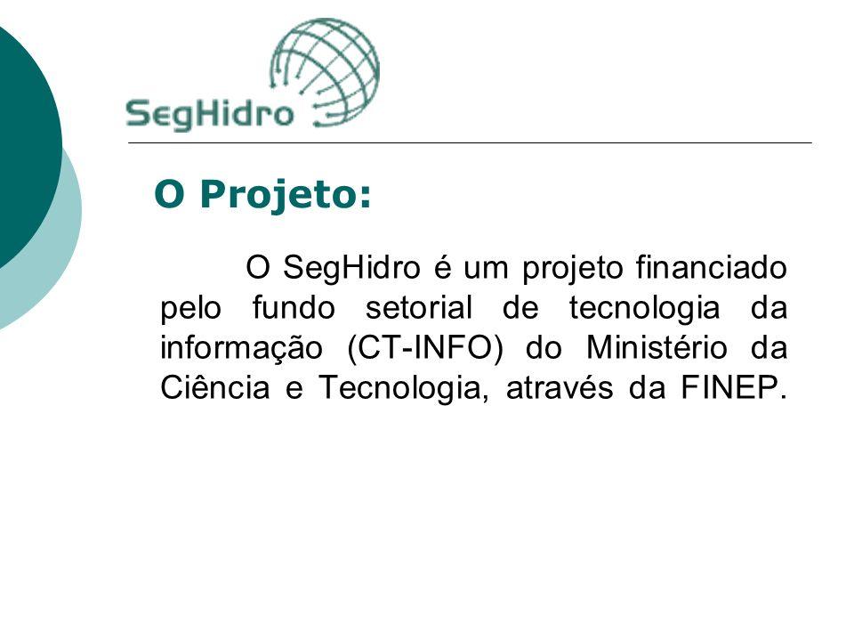 O SegHidro é um projeto financiado pelo fundo setorial de tecnologia da informação (CT-INFO) do Ministério da Ciência e Tecnologia, através da FINEP.