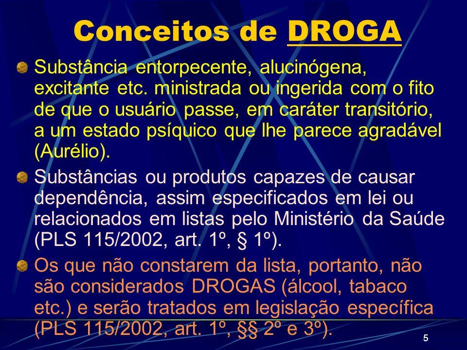 5 Conceitos de DROGA Substância entorpecente, alucinógena, excitante etc.