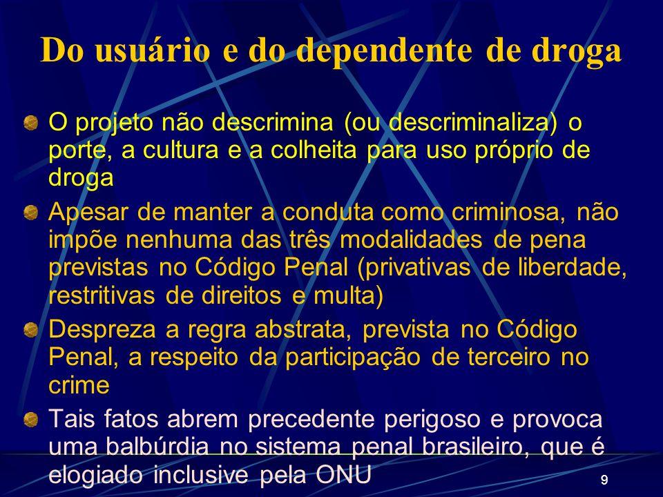 10 O que o Governo pretende é a liberação do uso de todas as drogas, desde a maconha até a heroína.