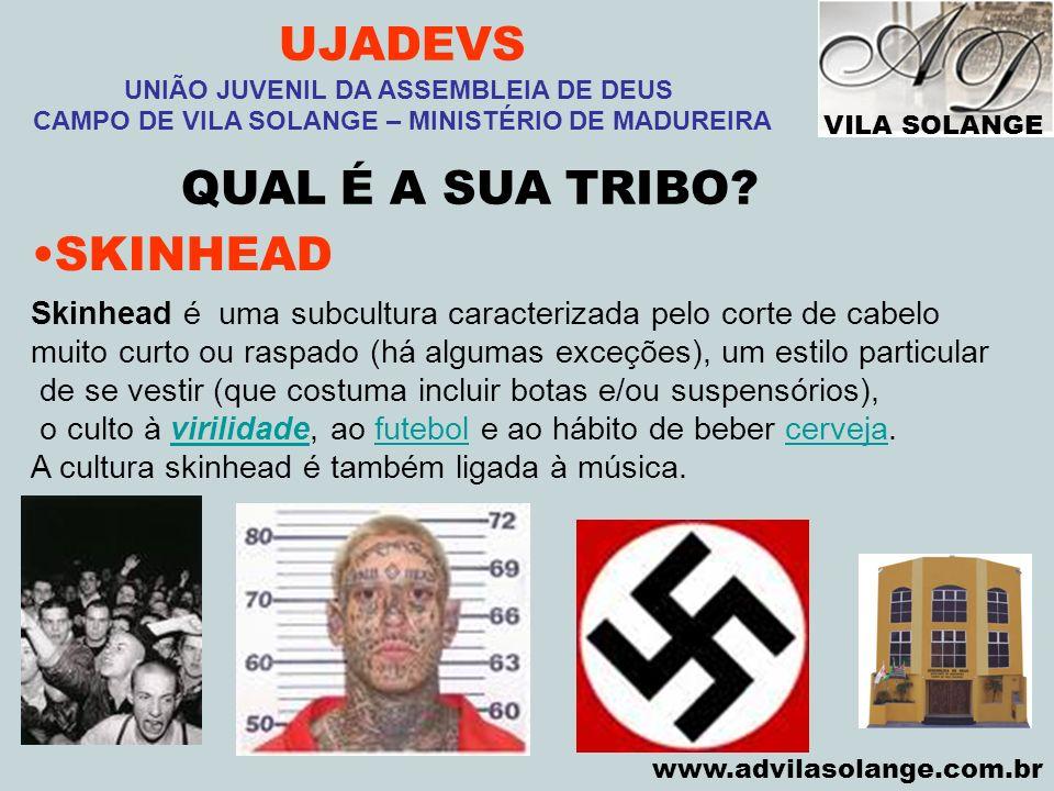 VILA SOLANGE www.advilasolange.com.br UJADEVS UNIÃO JUVENIL DA ASSEMBLEIA DE DEUS CAMPO DE VILA SOLANGE – MINISTÉRIO DE MADUREIRA QUAL É A SUA TRIBO.