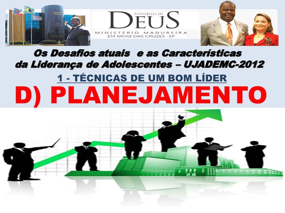 D) PLANEJAMENTO 1 - TÉCNICAS DE UM BOM LÍDER