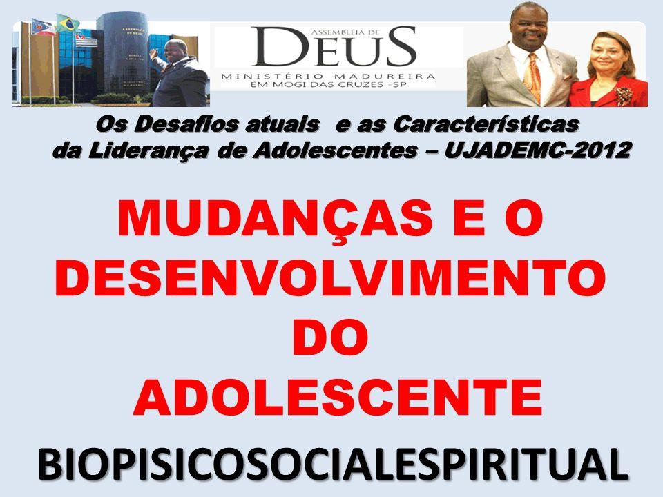 MUDANÇAS E O DESENVOLVIMENTO DO ADOLESCENTE BIOPISICOSOCIALESPIRITUAL