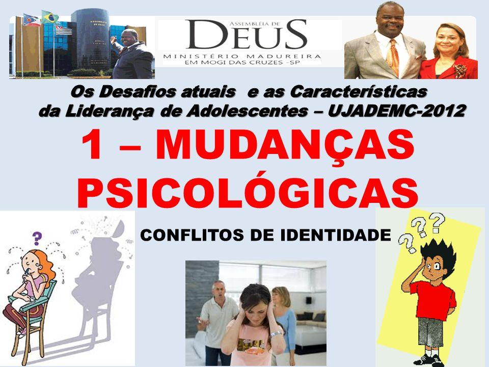 1 – MUDANÇAS PSICOLÓGICAS CONFLITOS DE IDENTIDADE