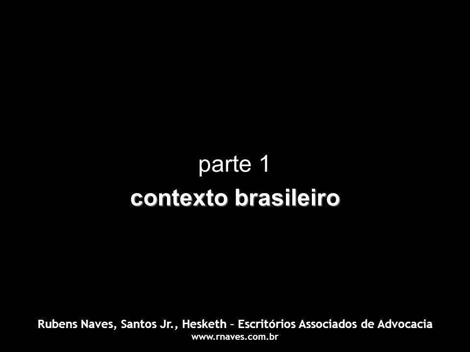 parte 1 contexto brasileiro Rubens Naves, Santos Jr., Hesketh – Escritórios Associados de Advocacia www.rnaves.com.br