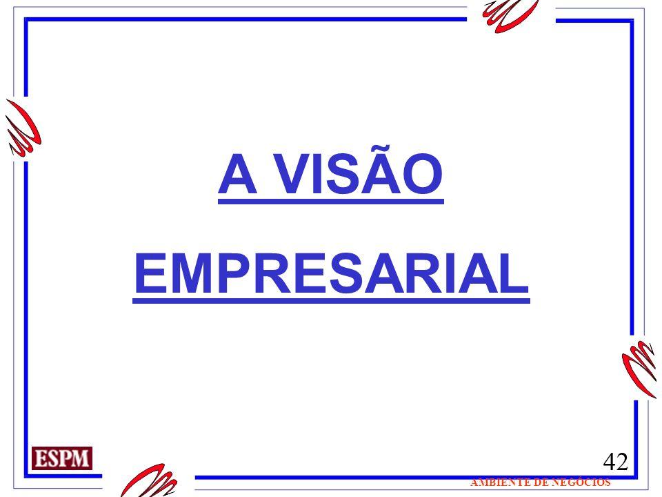 42 AMBIENTE DE NEGÓCIOS A VISÃO EMPRESARIAL