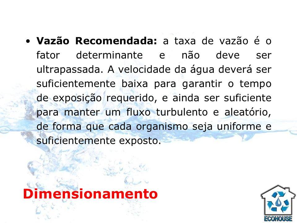 Processo de Desinfecção A água passa pela lâmpada de vapor de mercúrio que é protegida por um tubo de quartzo.