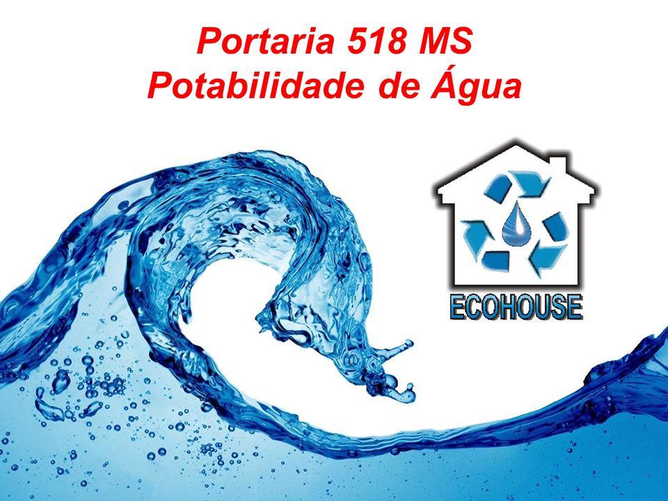 Portaria 518 MS Potabilidade de Água
