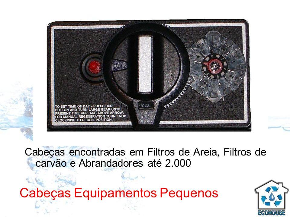Cabeças Equipamentos Pequenos Cabeças encontradas em Filtros de Areia, Filtros de carvão e Abrandadores até 2.000